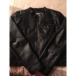 NY&Co Faux Leather Quilted Moto Jacket